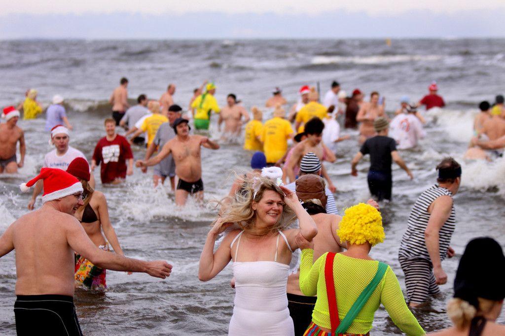 Eisbaden auf Usedom. Foto UTG