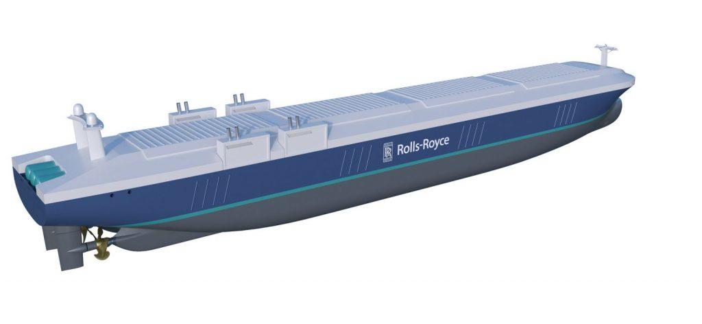 So könnten die autonomen Ozeanriesen aussehen. Bild: Rolls Royce